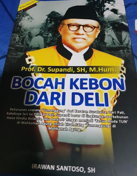 "Buku karya Prof Supandi berjudul ""Bocah Kebon Dari Deli"" (ist)"
